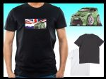 KOOLART CLASSIC BRITISH Design for Green Ford Focus RS mens or ladyfit t-shirt